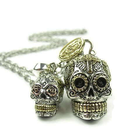 solid sterling silver sugar skull charms back in stock www.galibardy.com