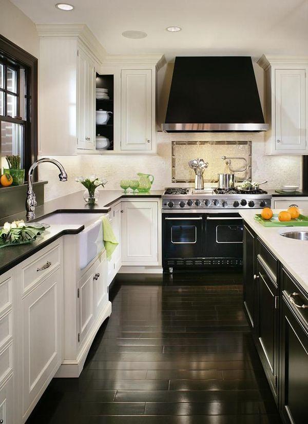 85 Black and White Kitchen Decor Ideas images