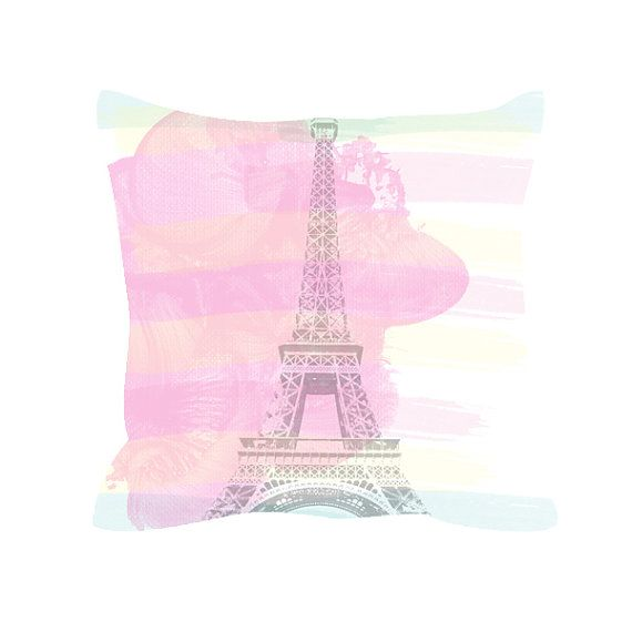 Eiffel Tower throw pillow includes insert - Eiffel Tower, Spring decor