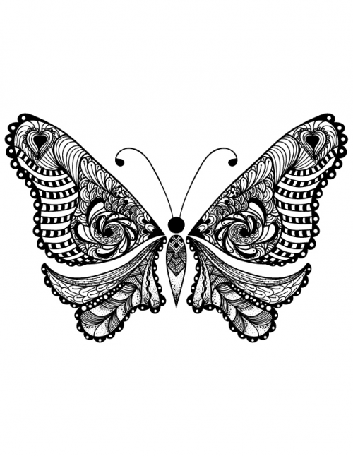 Free Adult Coloring Butterfly Page 2 Free Butterfly and Adult