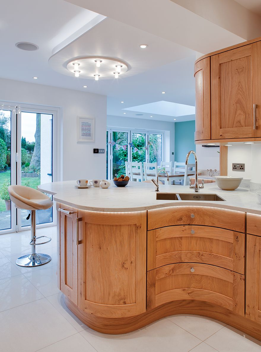 A curved kitchen counter is sure to catch the eye. | Love Your ...