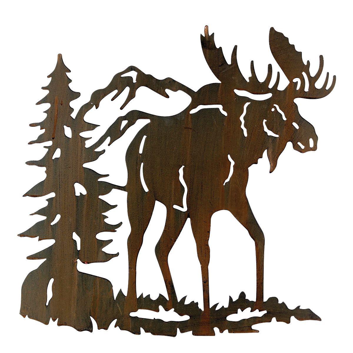 Moose Metal Art Wall Hanging Moose Wall Art Hanging Wall Art Black Forest Decor