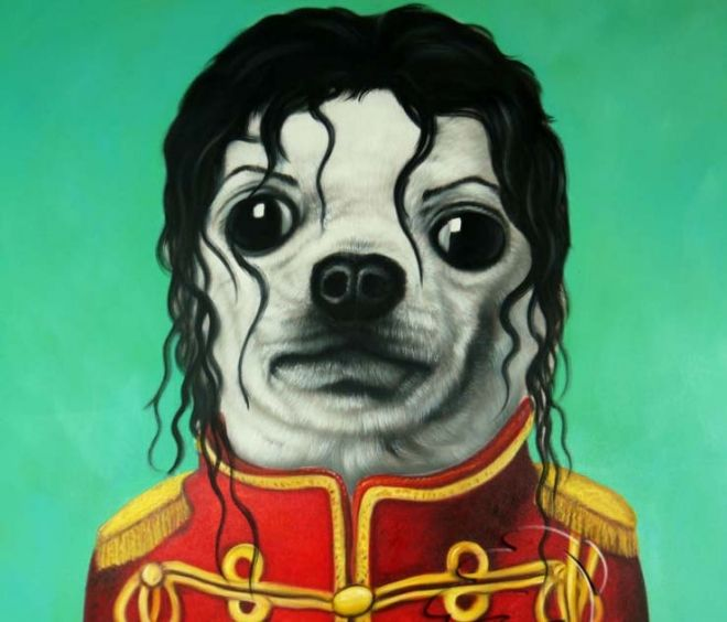 25 Funny Paintings And Artworks From Around The World Funny Dog
