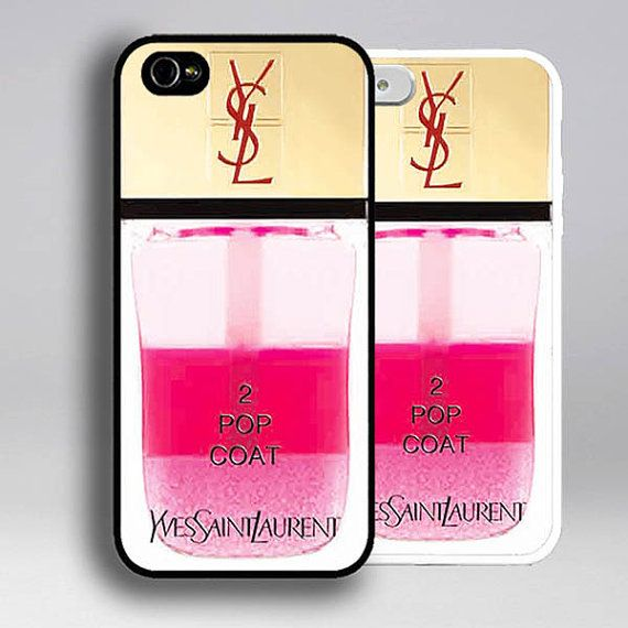 iPhone 5s case YSL iPhone 5 case nail polish iPhone 5s case pink ...