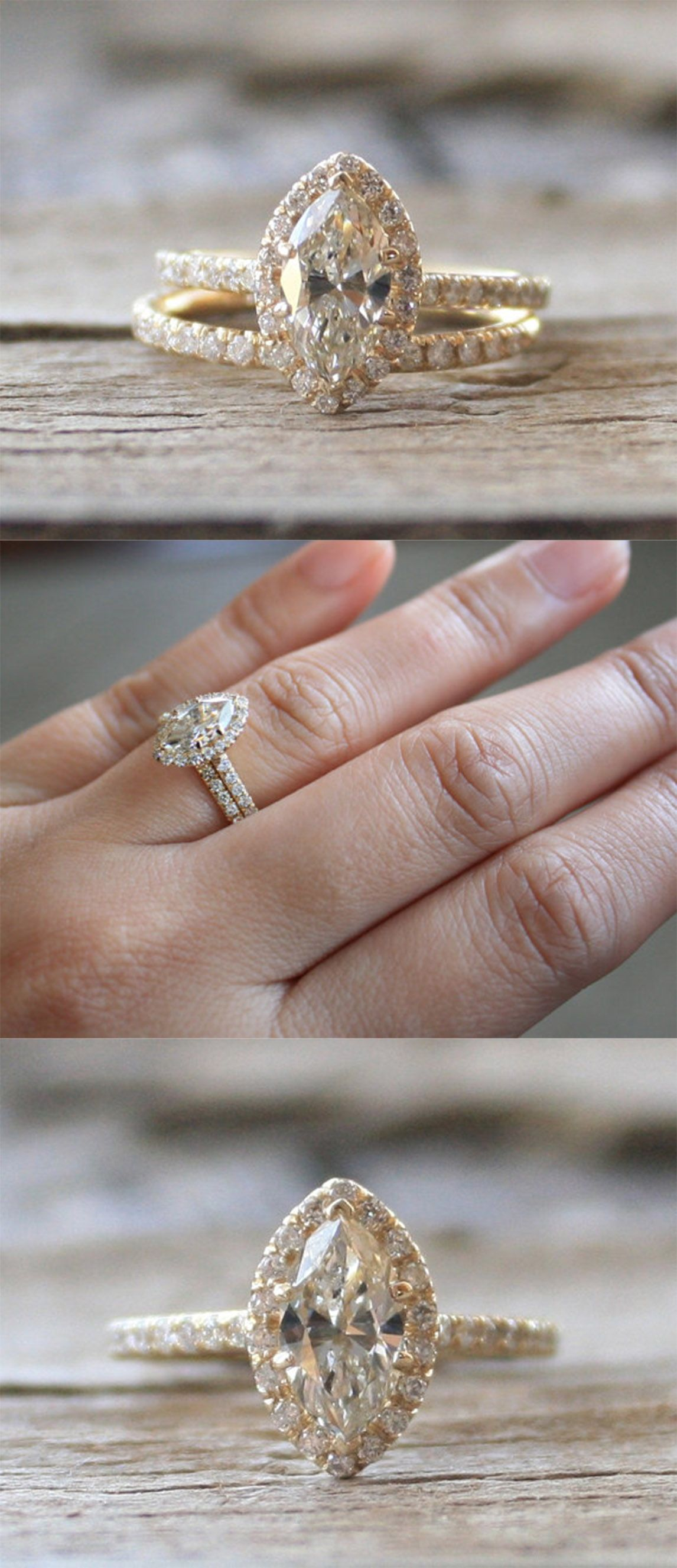 Marquise Diamond Engagement Ring Set In 14k Yellow Gold Fine Engagement Rings Engagement Rings Marquise Marquise Engagement Ring Gold