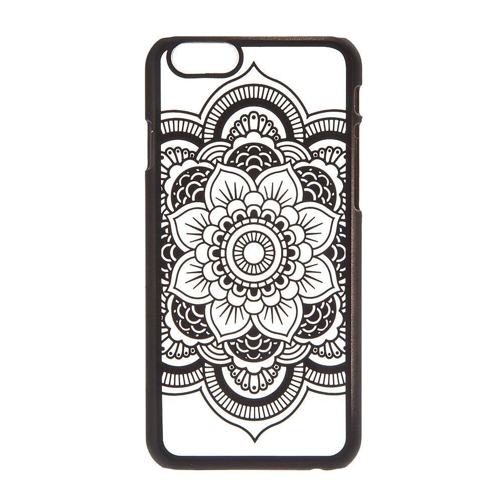 Frosted Black Mandala Phone Case