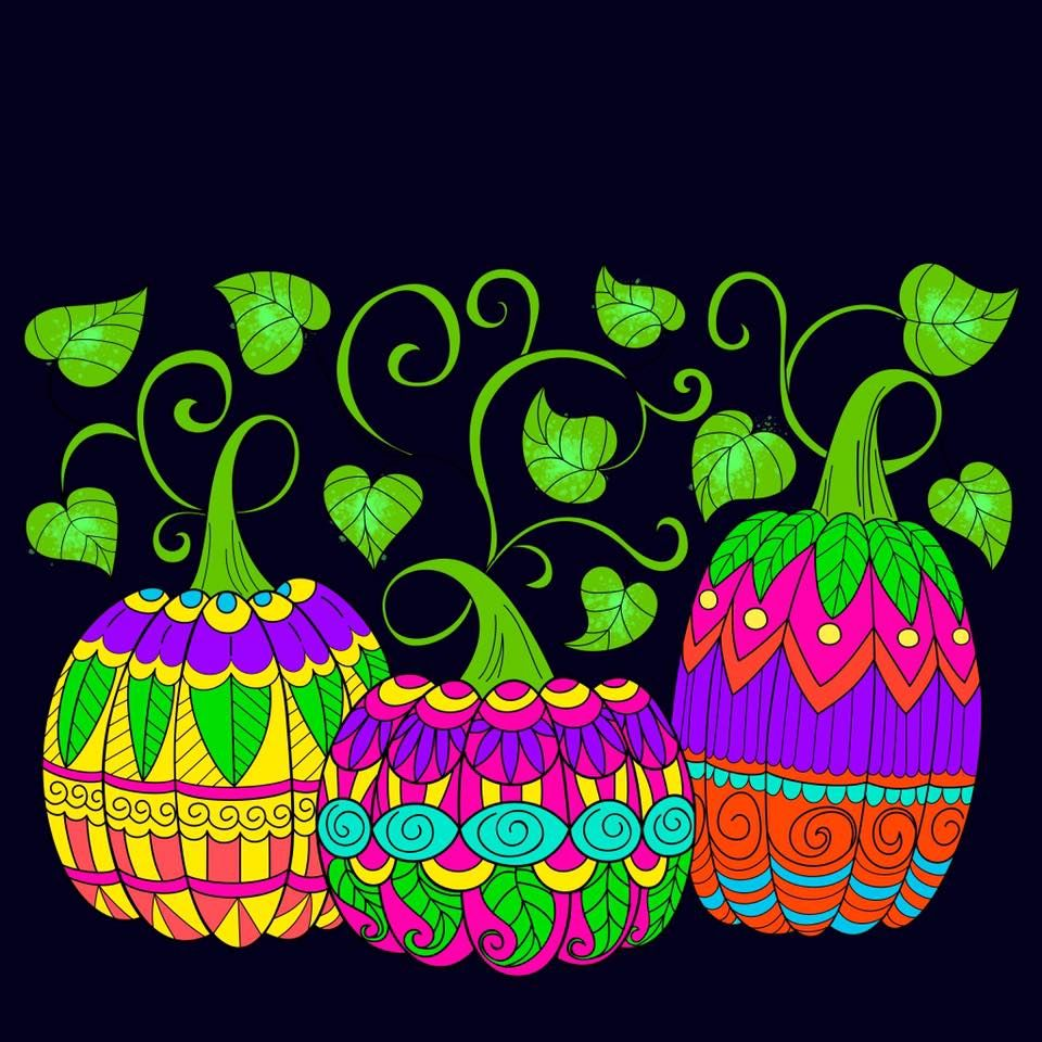 Great Pumpkins Colored By Karen Baker Daigle From Our Autumn II Coloring Book Have You Tried The Pigment App Yet Its Best Adult