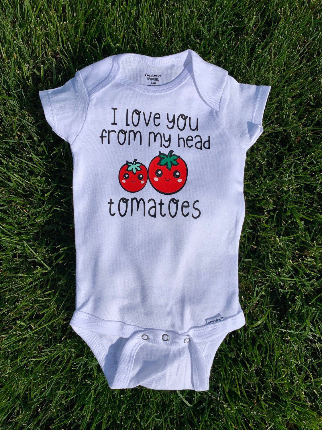 Excited To Share This Item From My Etsy Shop I Love You From My Head Tomatoes Cute Onesies Onesies For Babies Gen Cute Onesies Baby Onesies Baby Gender