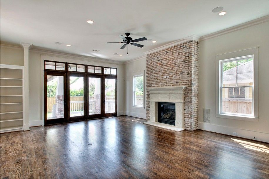 craftsman living room fireplace design