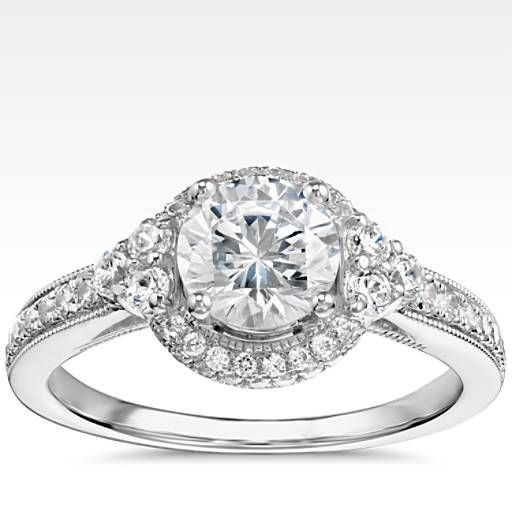 Monique Lhuillier Designer Engagement Rings Blue Nile Monique