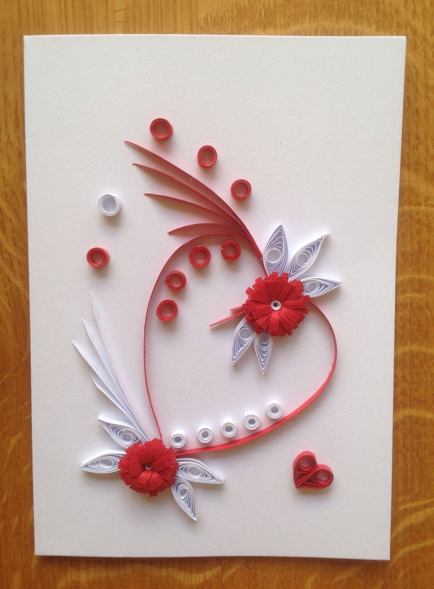 Quilling valentine card tutorial craft flowers ideas paper also filigrana pinterest sobres rh ar