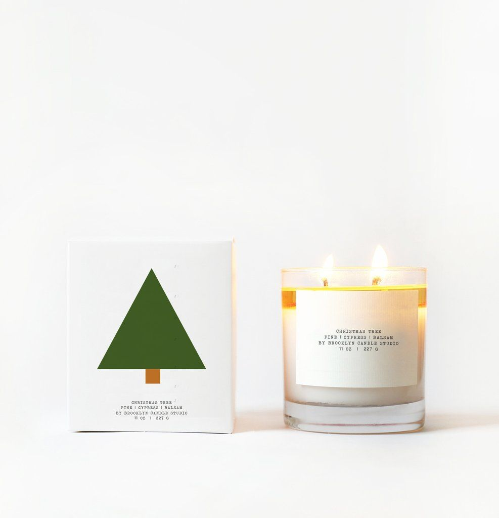 Christmas Tree Candle with Graphic Box – Brooklyn Candle Studio