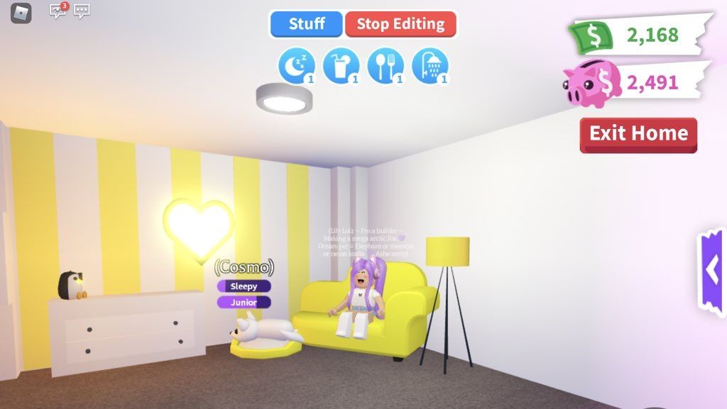 Aesthetic Yellow Pet Room Adopt Me Builds Girl Bedroom Designs Animal Room Room