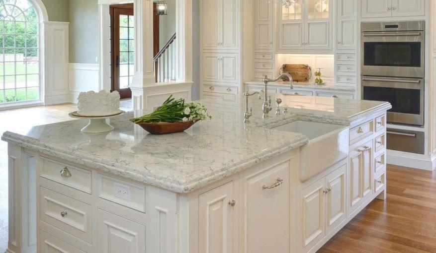 Viatera Rococo With White Dove Cabinets Elegant Kitchens Glam