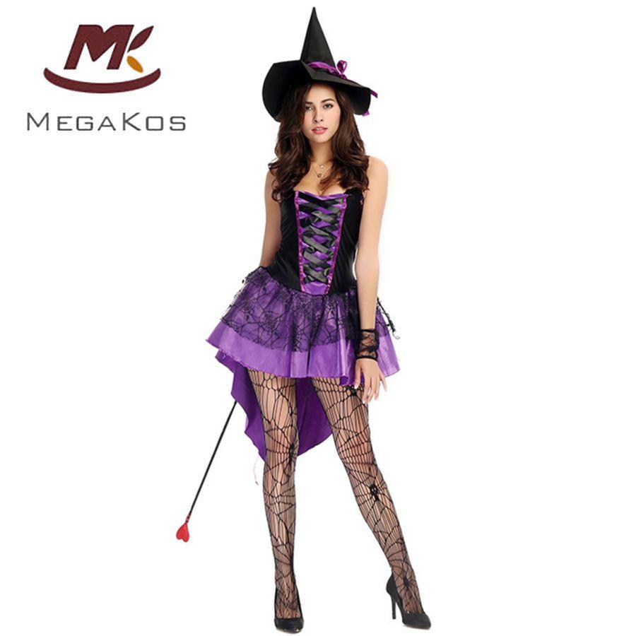 Damen Hexe Zauberer Kleid Cosplay Kost M Halloween Karneval
