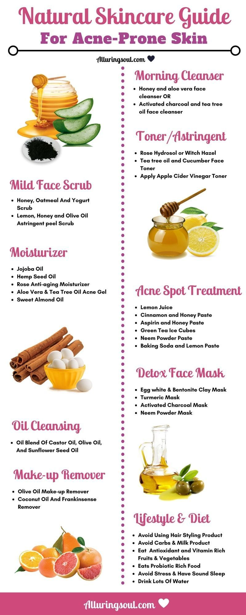 Quit Acne Using Natural Skin Care Guide For Acne Prone Skin And Give Your Skin Nutritional Food Through Natur Skin Care Guide Acne Prone Skin Natural Skin Care