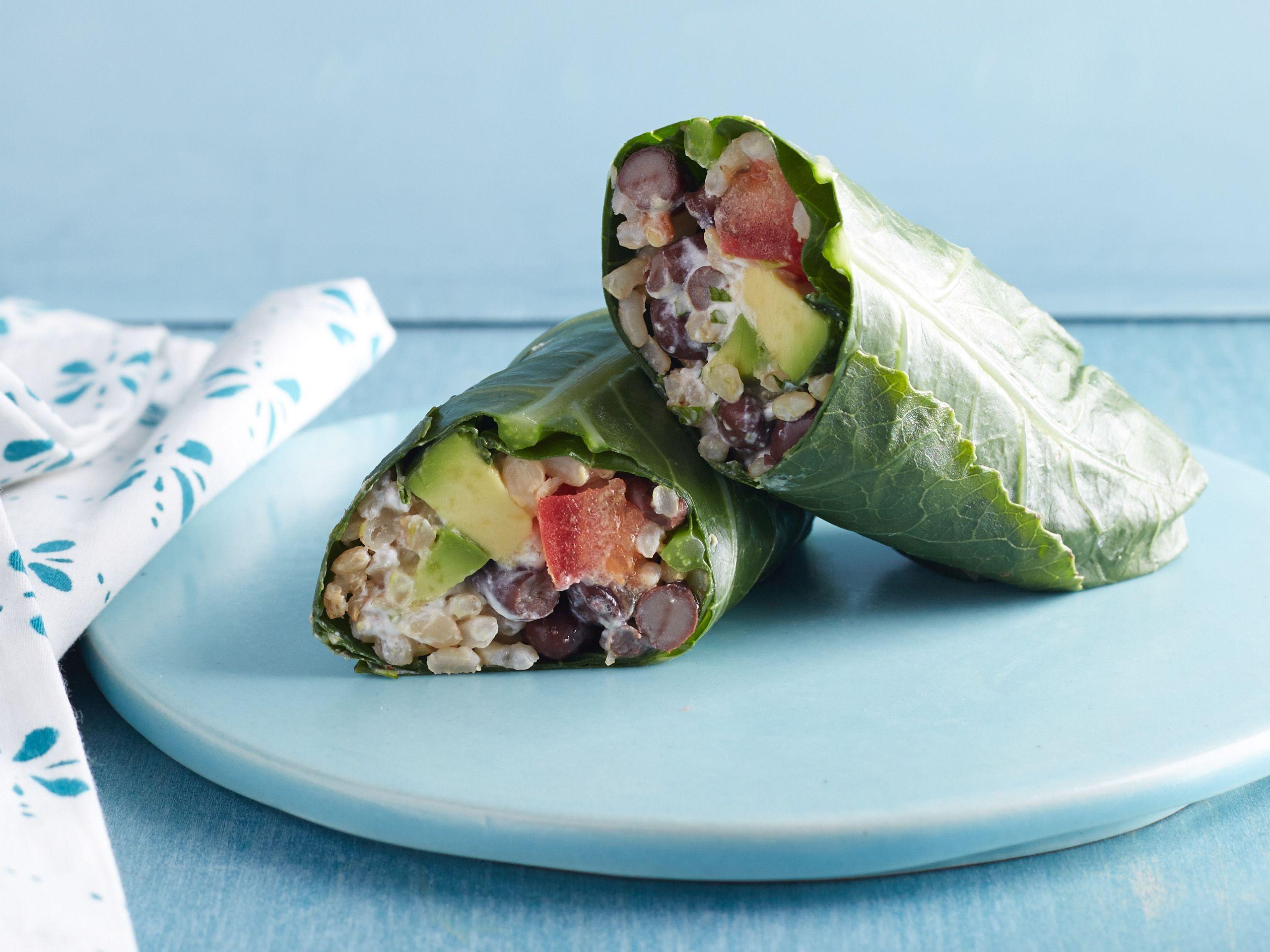 Collard-Wrapped Bean Burritos | Recipe | Bean burritos, Burritos and ...