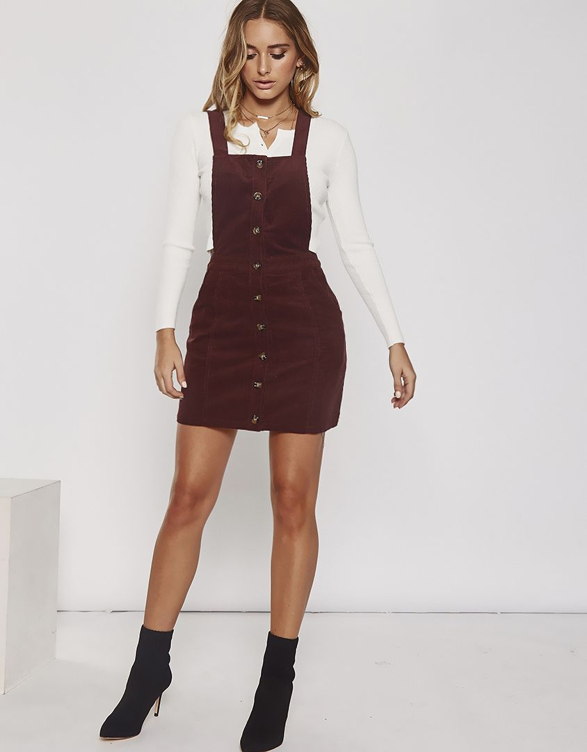 497003c58e First Time Corduroy Overall Dress