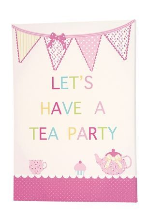 Tea Party Canvas - cute