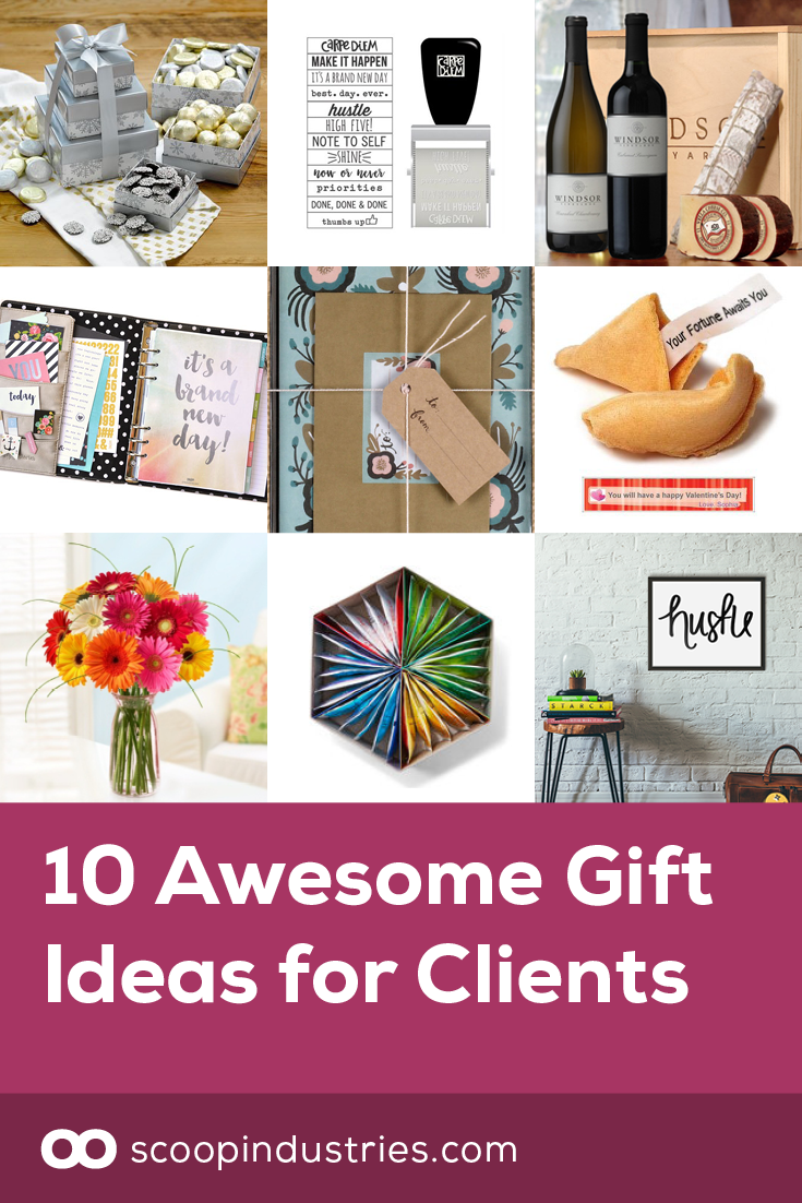 10 awesome gift ideas for clients | small business boss | pinterest