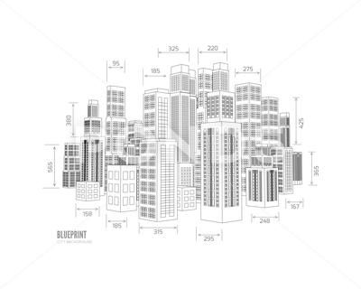 Building wireframe. 3d render city: Graphic #71247069