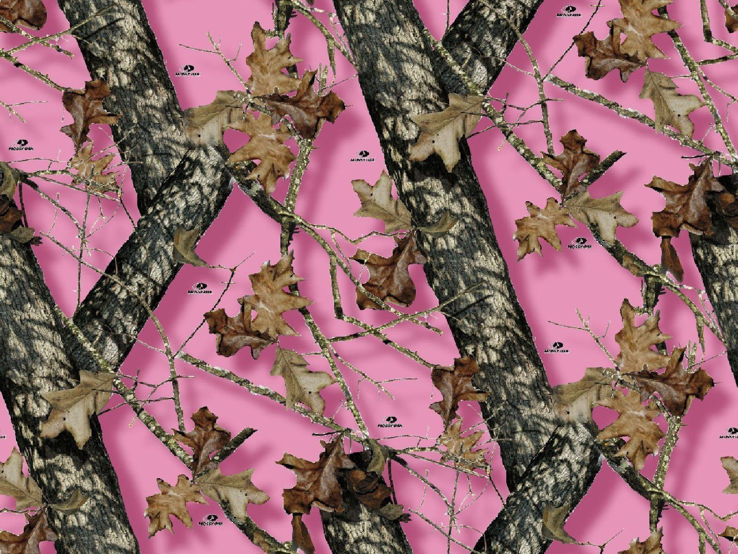 Mossy Oak Pink Camo Branch Edible Cake Topper Frosting 1/4
