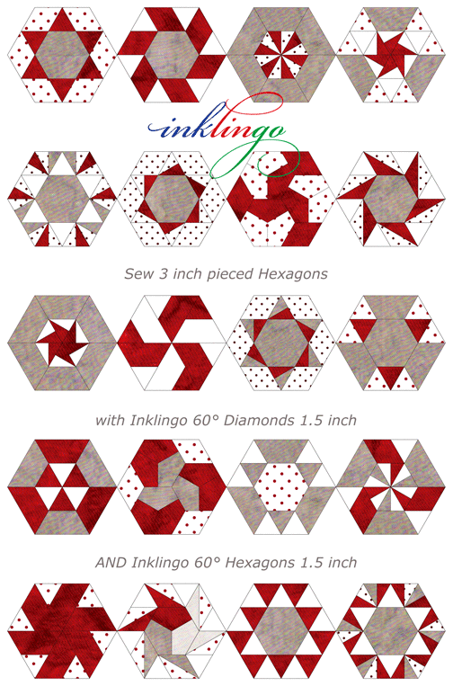 1000+ images about Quilts with Diamonds & Hexagons on Pinterest