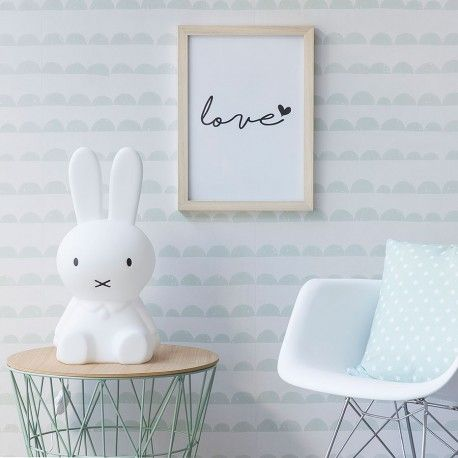 Moon wallpaper menta nenes papel pintado bebe decorar - Papel pintado bebe nina ...