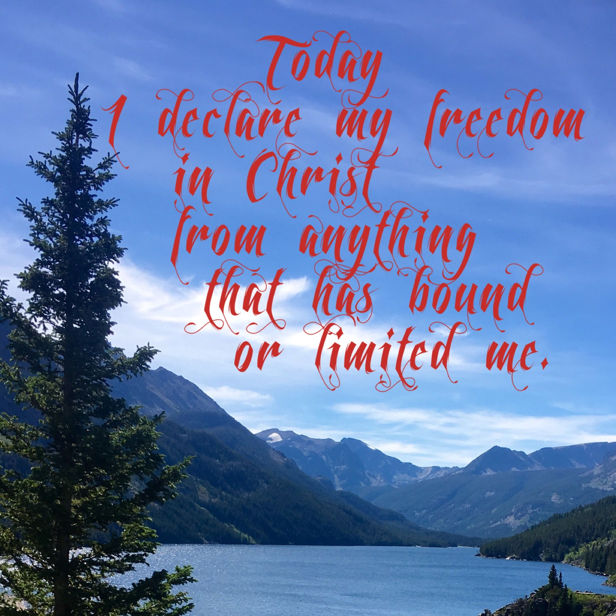 I Declare My Freedom In Christ Devotional Books Gods Love Devotions