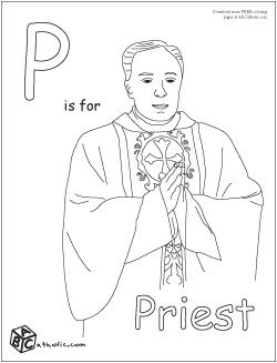 priest catholic kids coloring pages pinterest priest catholic kids and religious education