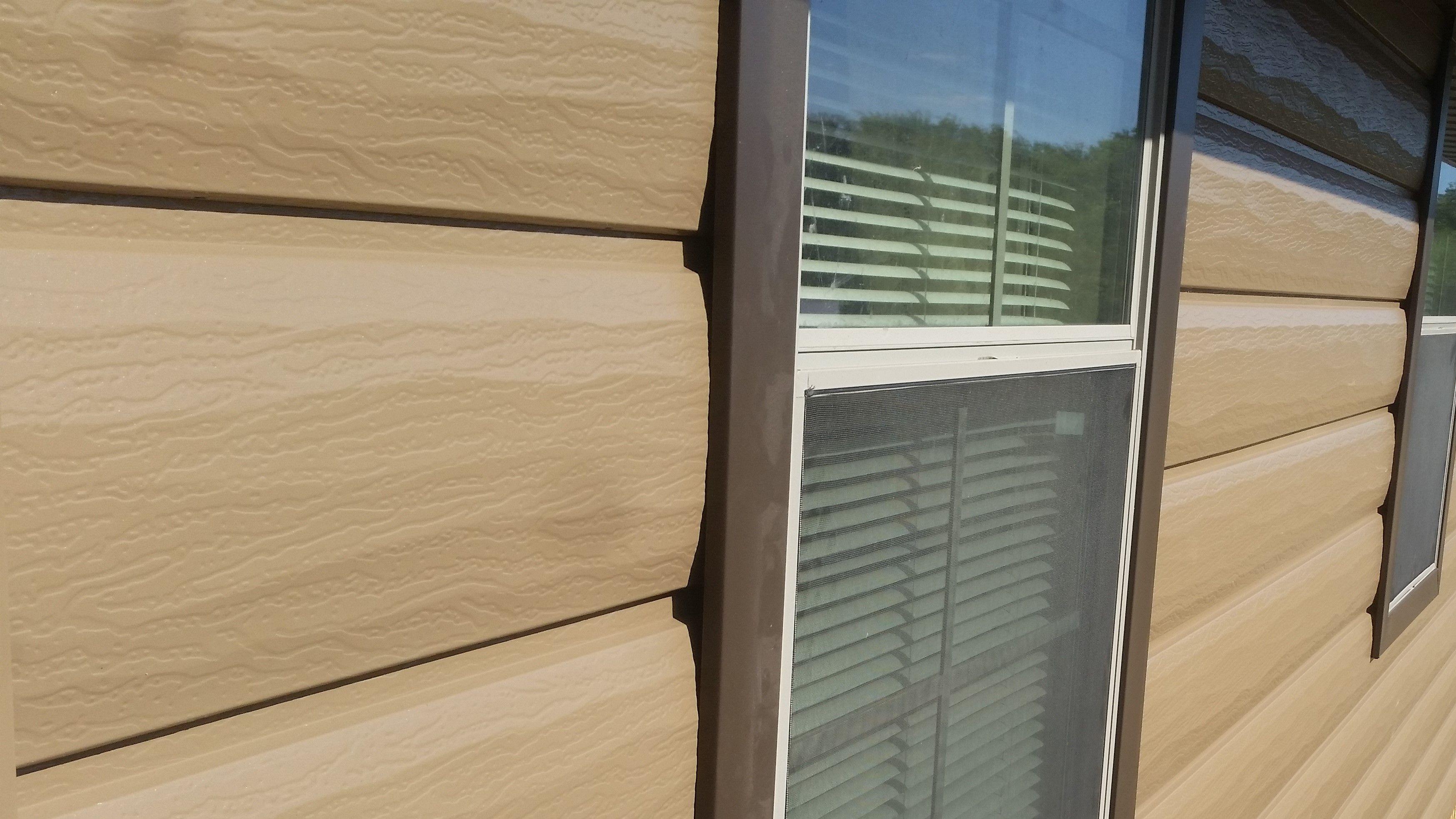 Close Up Of Trulog Sable Log Siding Log Siding House Siding Log Homes