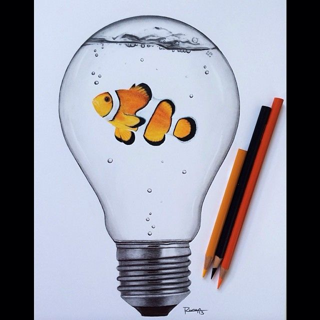 Art By Roman On Instagram Last Commissioned Lightbulb For Now Art Drawings Simple Cool Art Drawings Art Drawings Sketches
