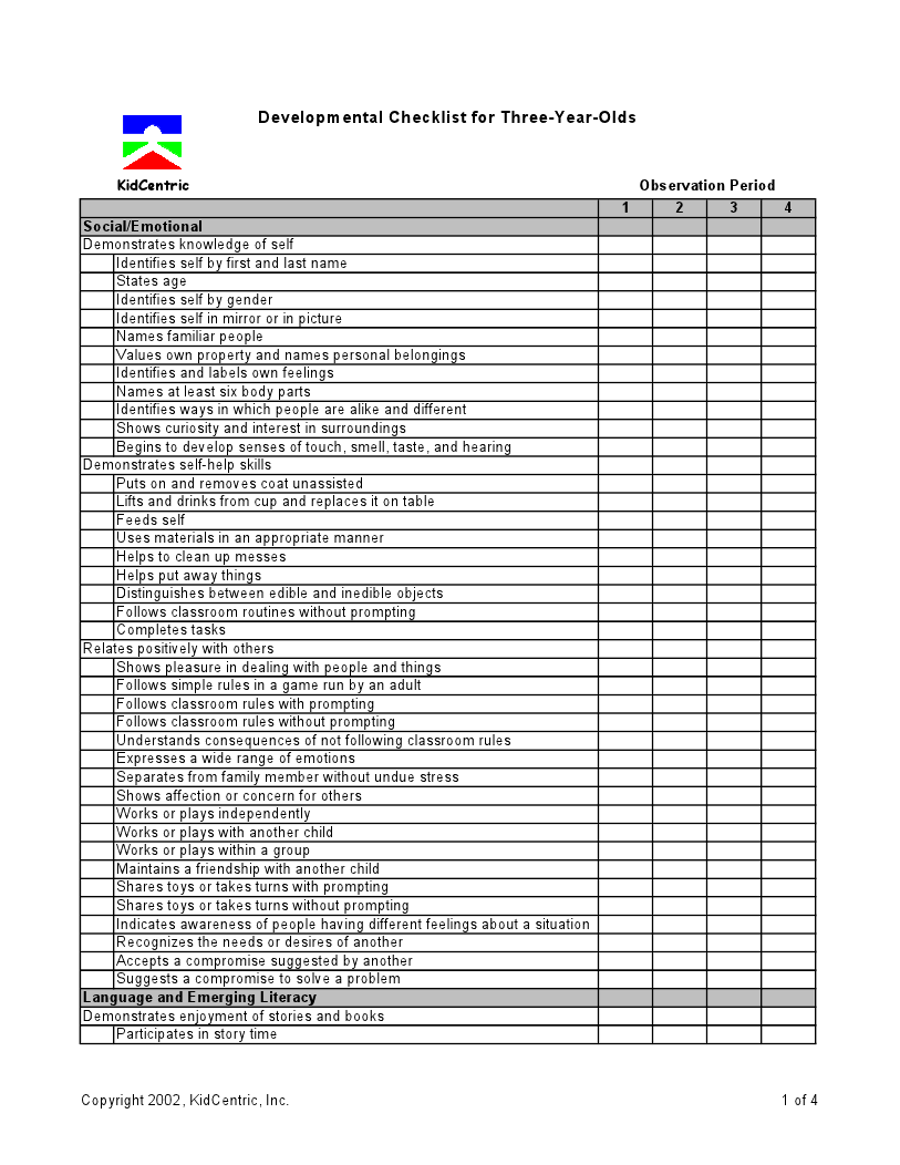 year old assessment for preschool assement 3 year page 1 of 4 assessment ideas 3