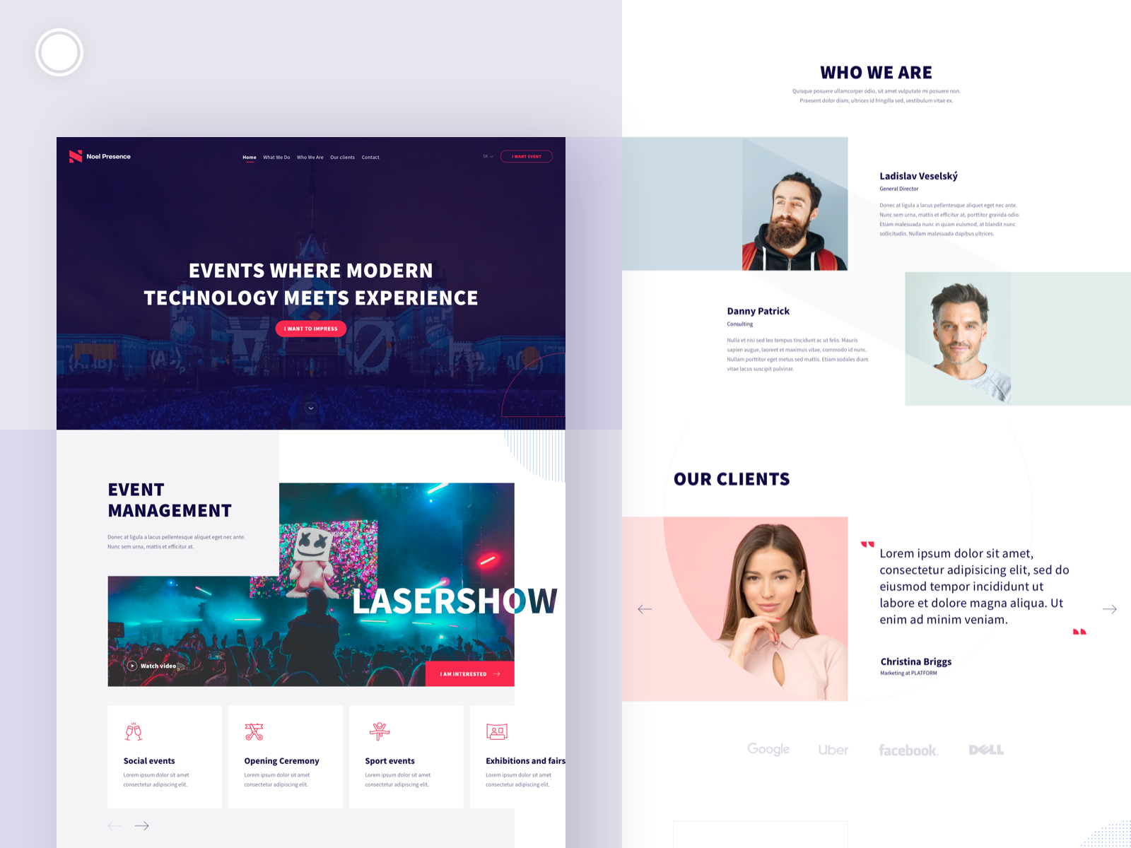 Event Agency Website Design In 2020 Agency Website Design Event Agency Agency Website