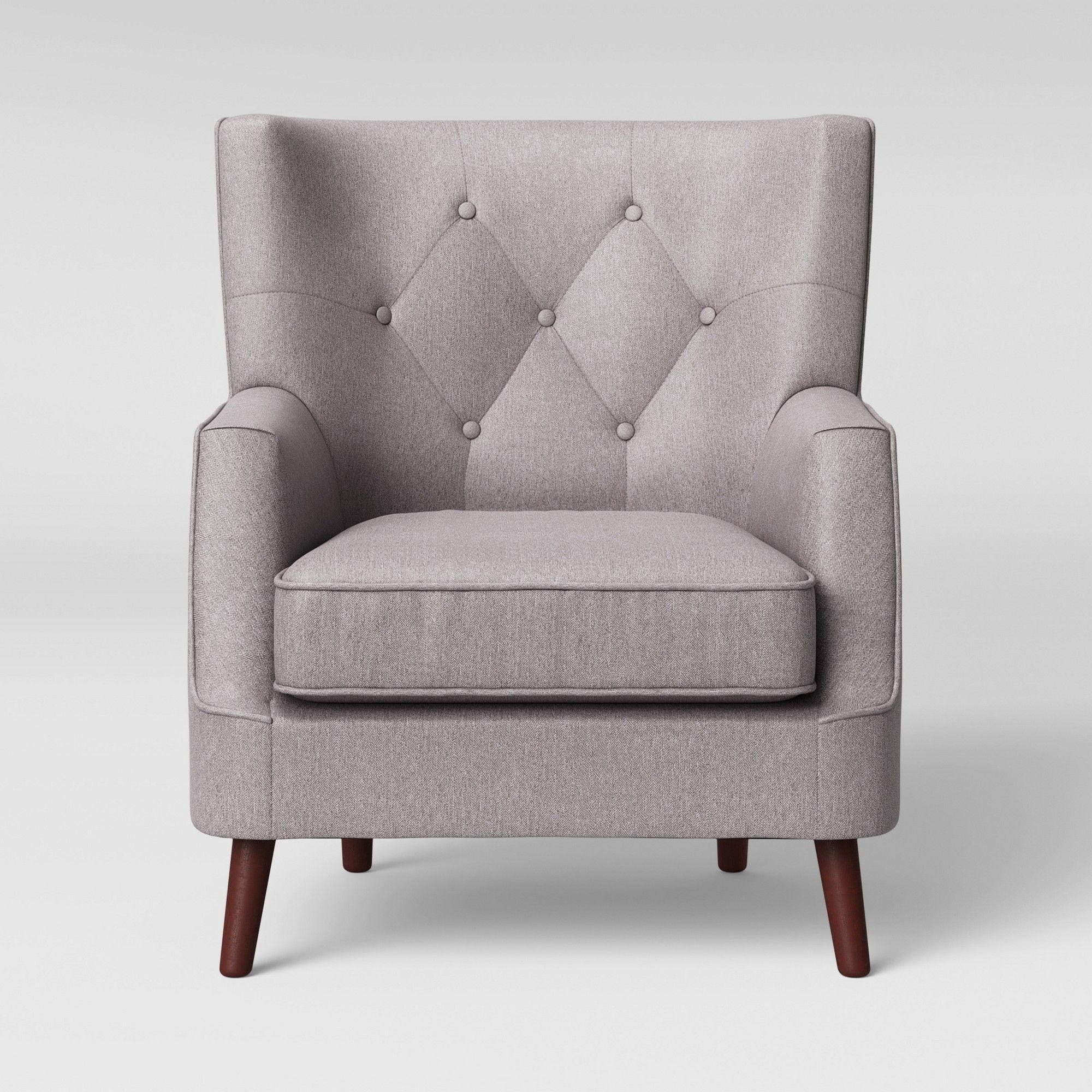 Ashfield Tufted Back Arm Chair Cream (Ivory) Threshold