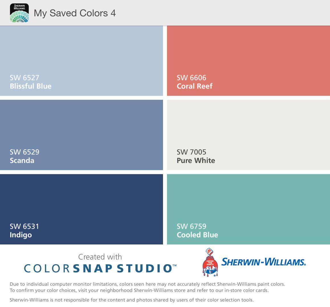 Exterior Colors: Blissful Blue upper 2 floors; Scanda ground level ...