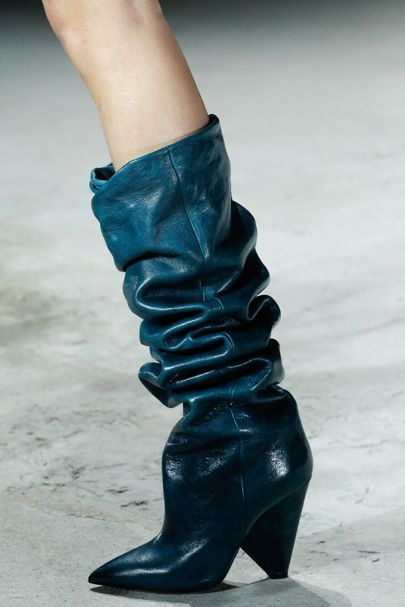c706f3443b5 Saint Laurent Slouchy Boot Paris Fashion Week Trend