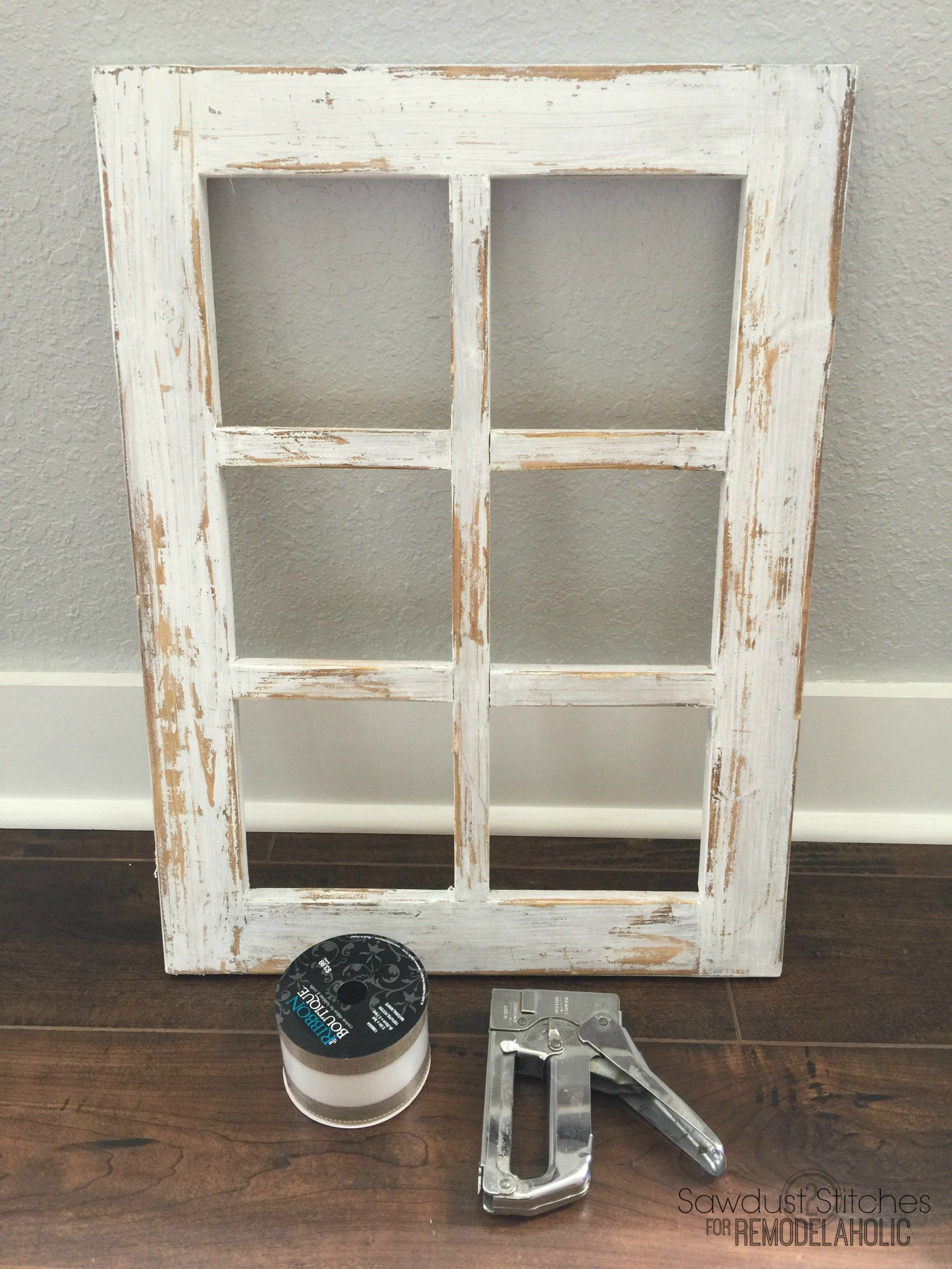 Rustic Window Frame By Sawdust2Stitches For Remodelaholic.com 6 ...