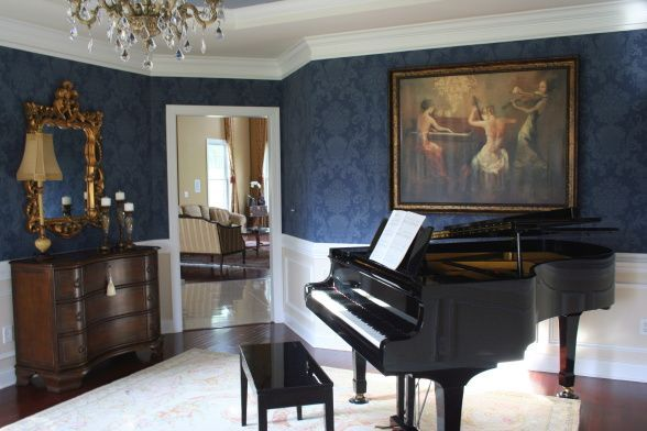 15 Grand Piano Set-ups in Traditional Living Rooms ...