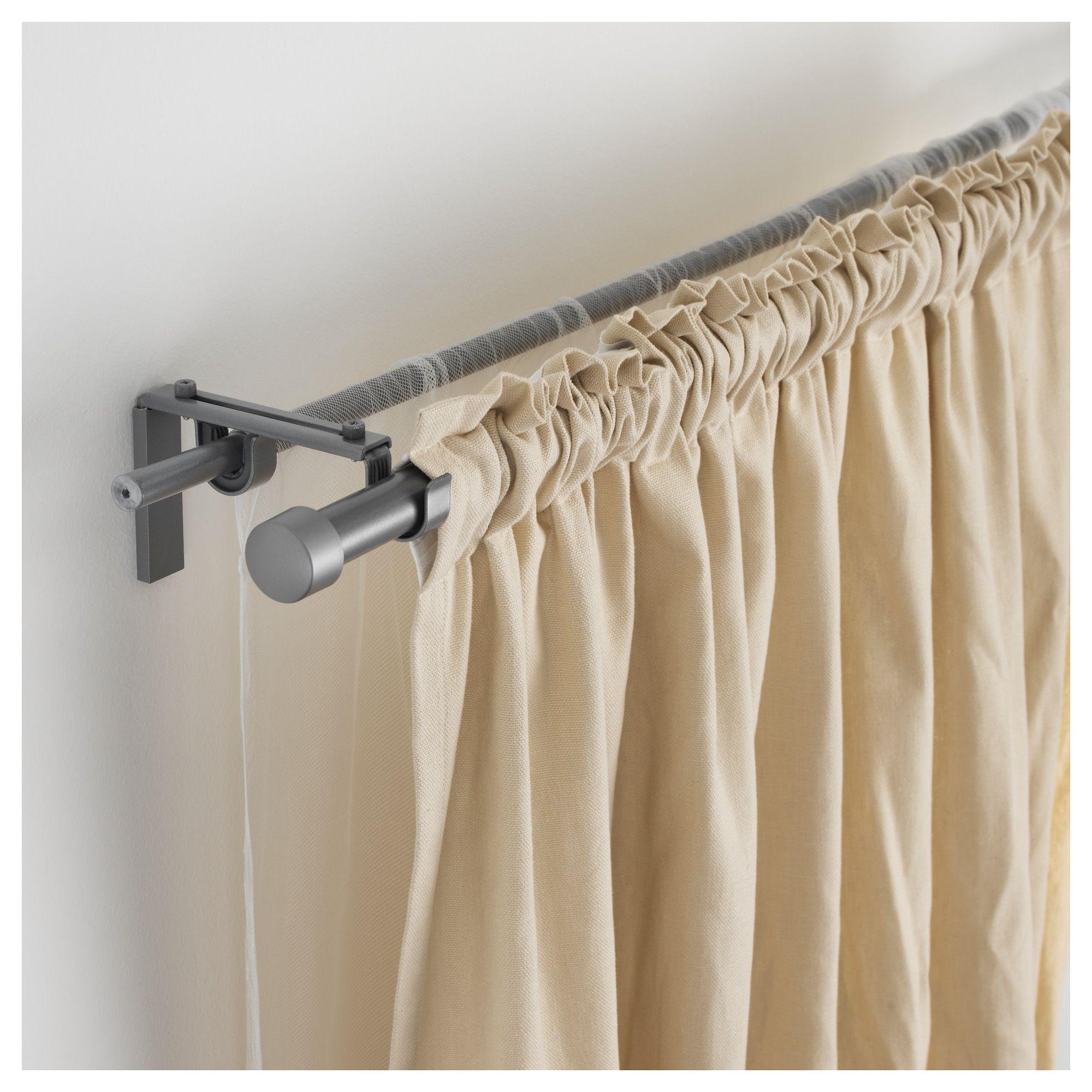 IKEA - HUGAD Curtain Rod Silver Color