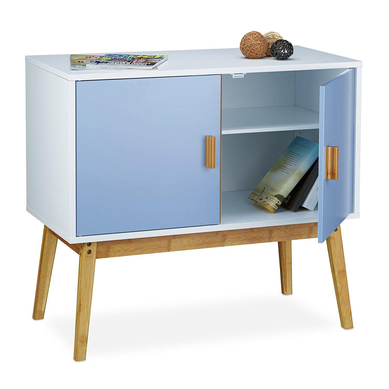 Relaxdays Retro Side Cabinet in Scandinavian Design, Size: 72 x 80.5 ...