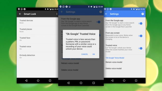 Google Starts Rolling Out 'Trusted Voice' Smart Lock Option   Smart lock,  The voice, Smart