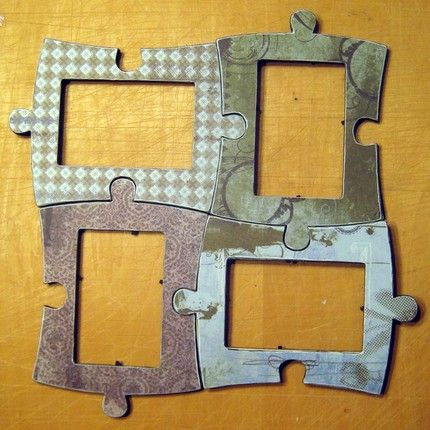 Puzzle-shaped picture frame. | Puzzles | Pinterest | Craft, Crafty ...