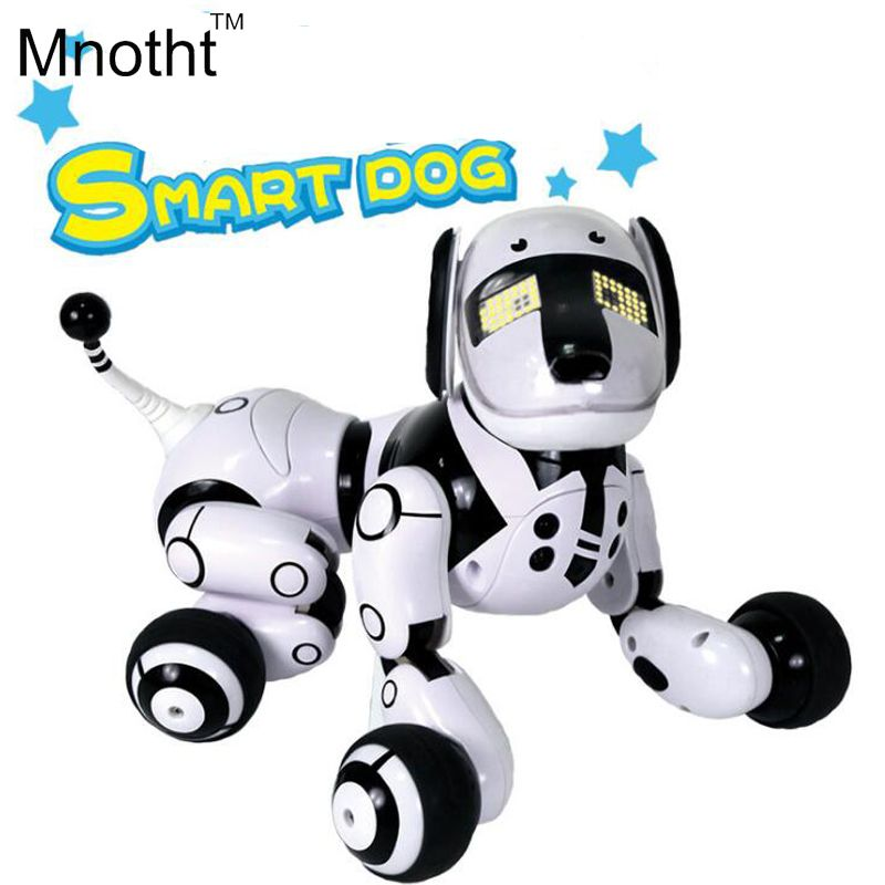Aggiornato Intelligente Cane Robot con 89 Tipi di Musica Light Up a piedi e Rendere il Dialogo Cani Giocattoli Regali Intelligenti per I Bambini compleanno