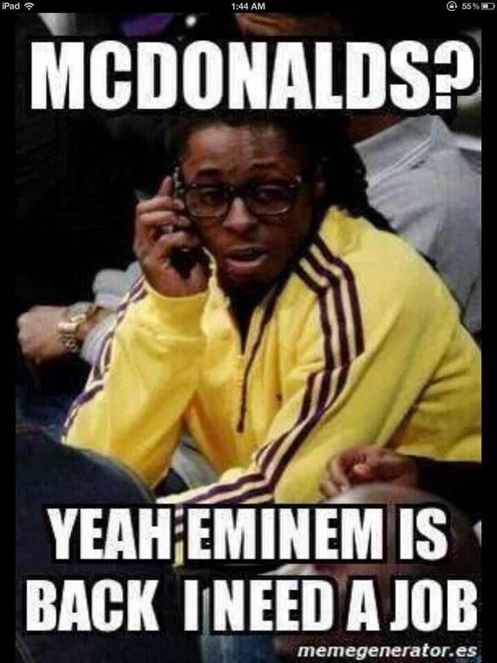 Lil Wayne Mcdonalds Eminem Funny Eminem Eminem Memes