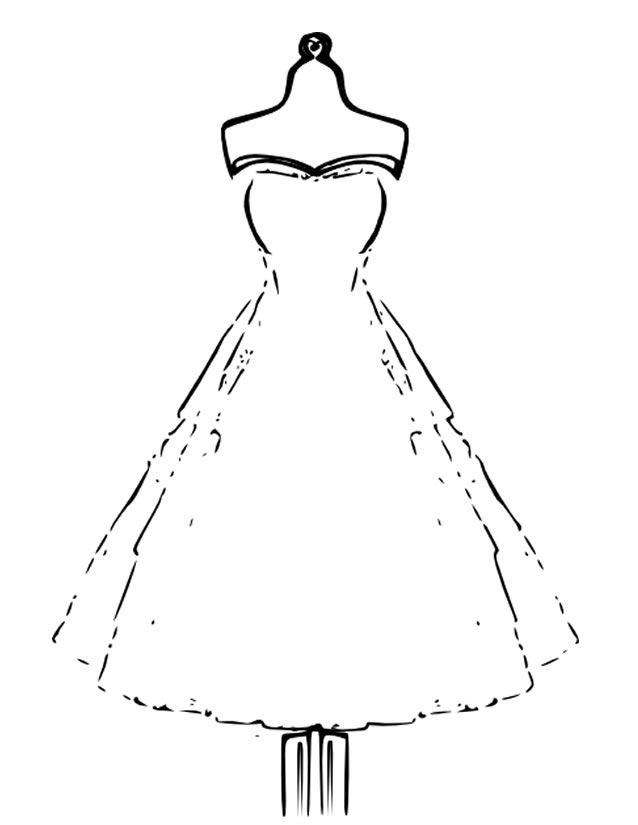 Coloriage robe | Coloriage, Livre coloriage, Coloriage totally spies