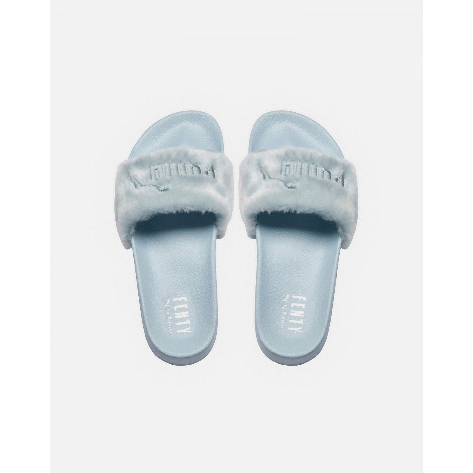 0535f10f86561d Puma Fenty Fur Slides (Cool Blue). Find this Pin and ...