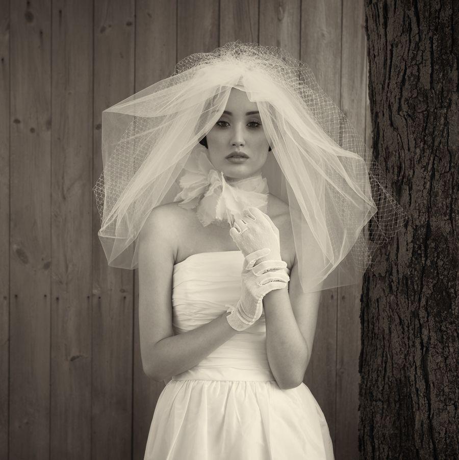 Short wedding dress by Amsale. Photo by William Clark.