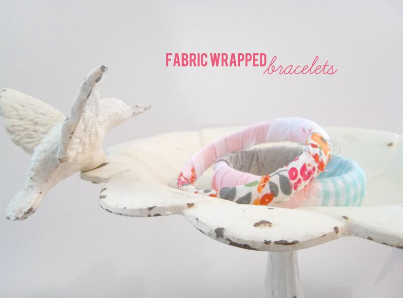 DIY fabric bracelets from my fave store, Ruche!
