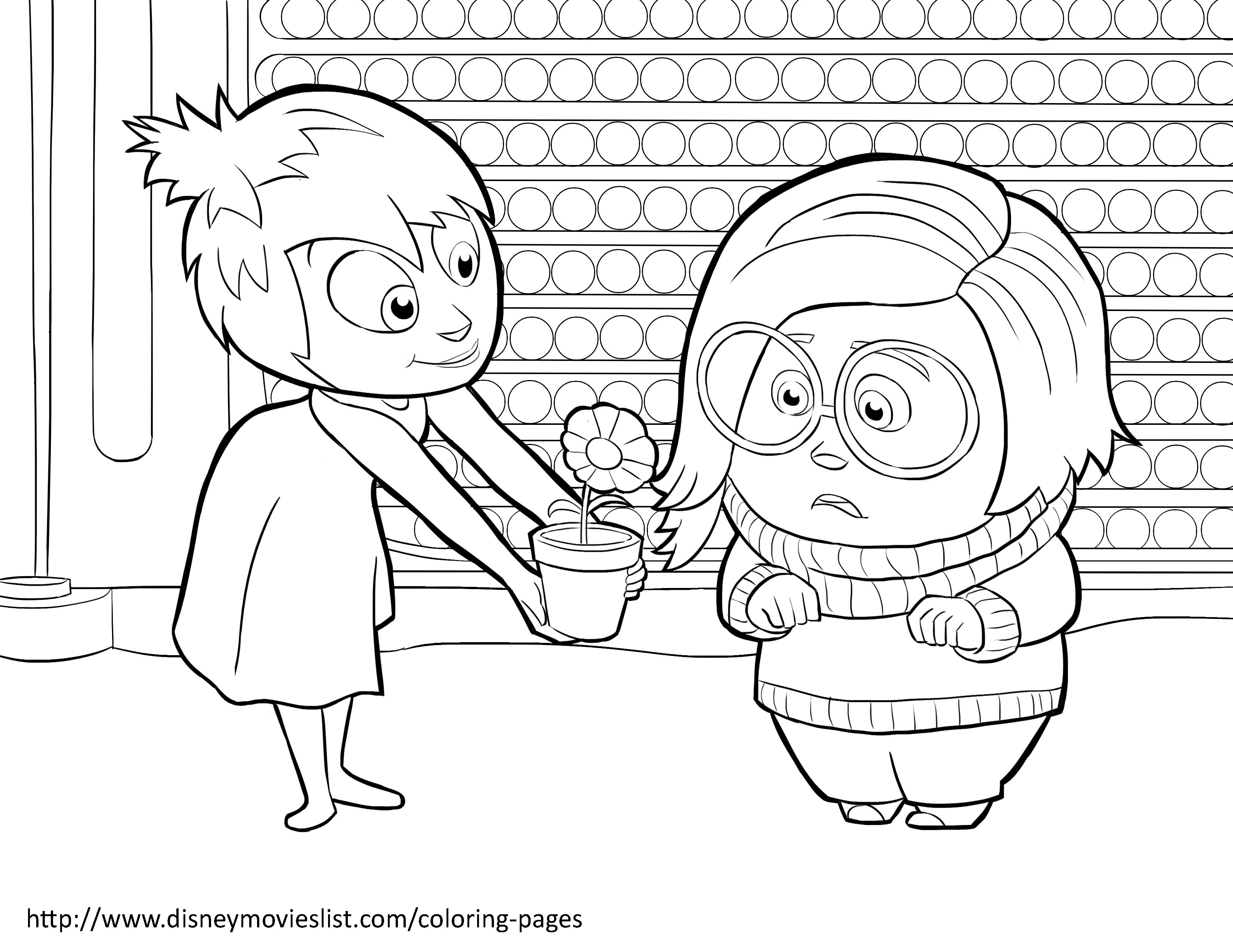 Disney S Inside Out Coloring Pages Sheet Free Disney Printable